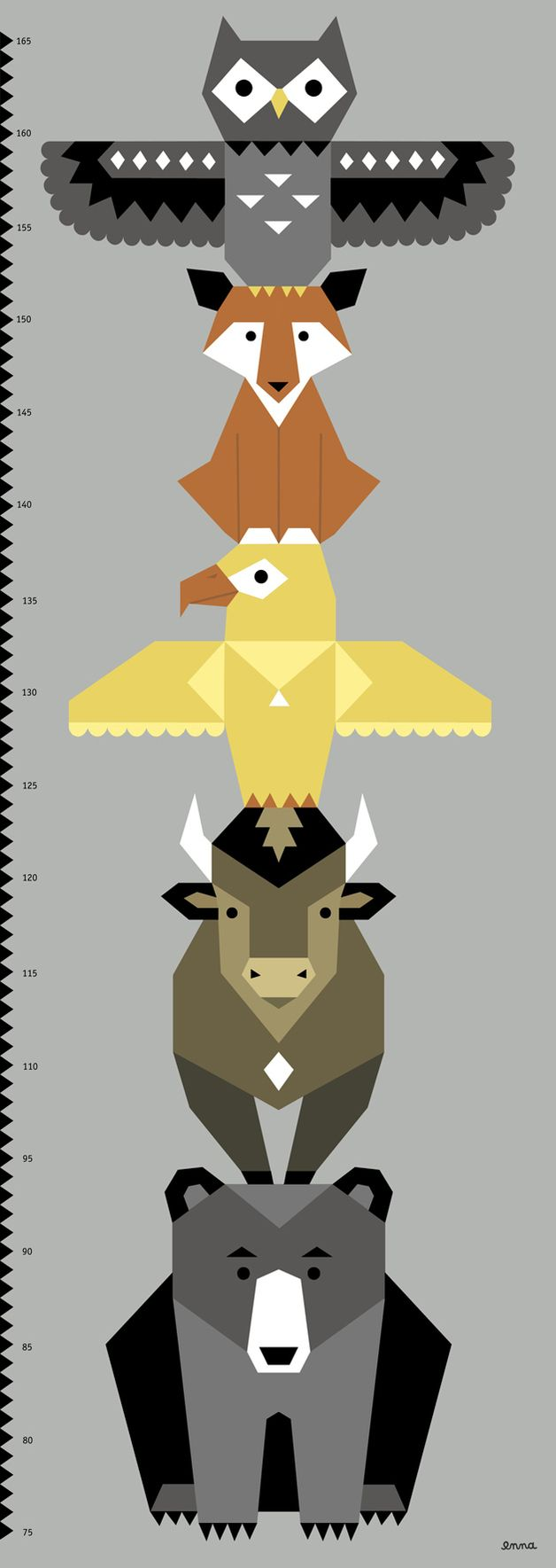 enna Totem Poster Messlatte