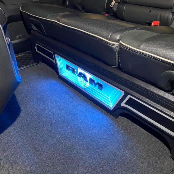 Mti Acoustics Dodge Ram 1500 Stage 2 Under Seat Enclosure Mti Acoustics Beautiful Sound Qual Dodge Ram 1500 Accessories Ram 1500 Accessories Dodge Ram 1500