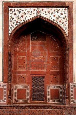Taj Mahal mosque door, Agra, India