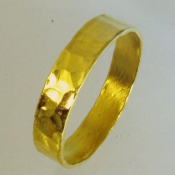Pure Gold Mens Wedding Band 24 Karat Solid Gold Ring100 Etsy Mens Gold Wedding Band Mens Wedding Bands Gold Wedding Band