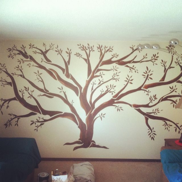 Tree Mural I painted in 1 day :)