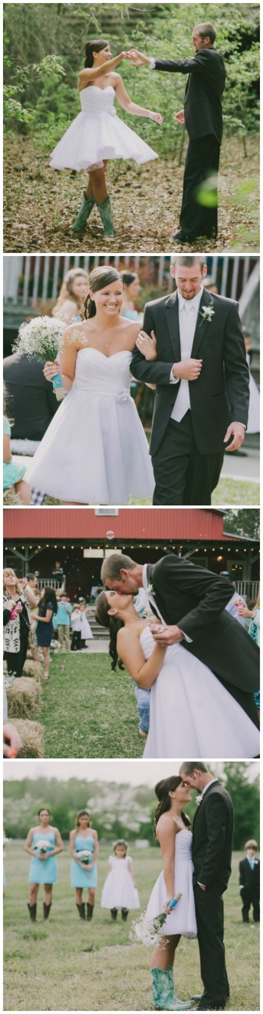 Country wedding with bride in boots!