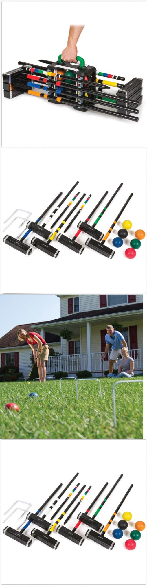 Croquet 117210: Eastpoint Sports 6-Player Croquet Set With Carrier Mallets Balls Stakes Wickets -> BUY IT NOW ONLY: $73.97 on eBay!