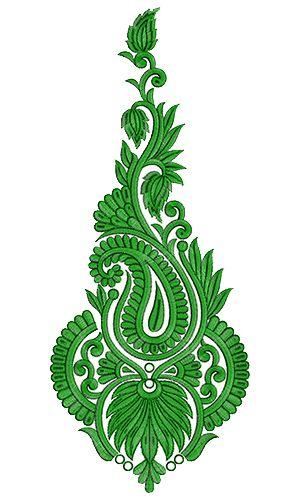 9715 Anarkali Embroidery Design