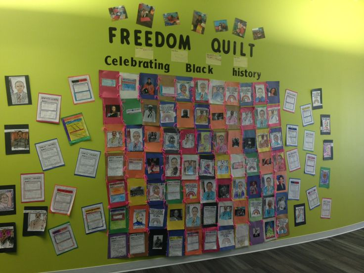 Black History Month Display. Freedom Quilt. @Brittany Archer
