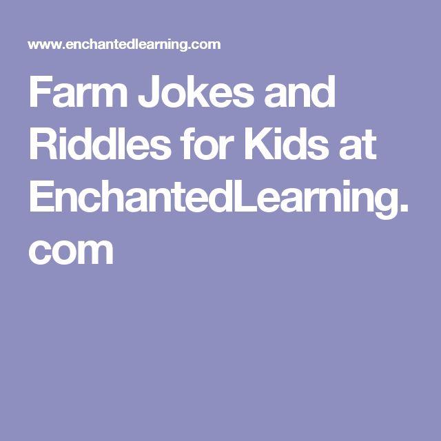 Farm Jokes and Riddles for Kids at EnchantedLearning.com
