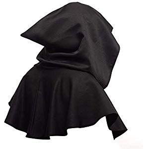 6SHINE Cowl Hat Mantel mit Kapuze Mittelalterliche Cowl Hat Kapuze Cosplay Zubeh…