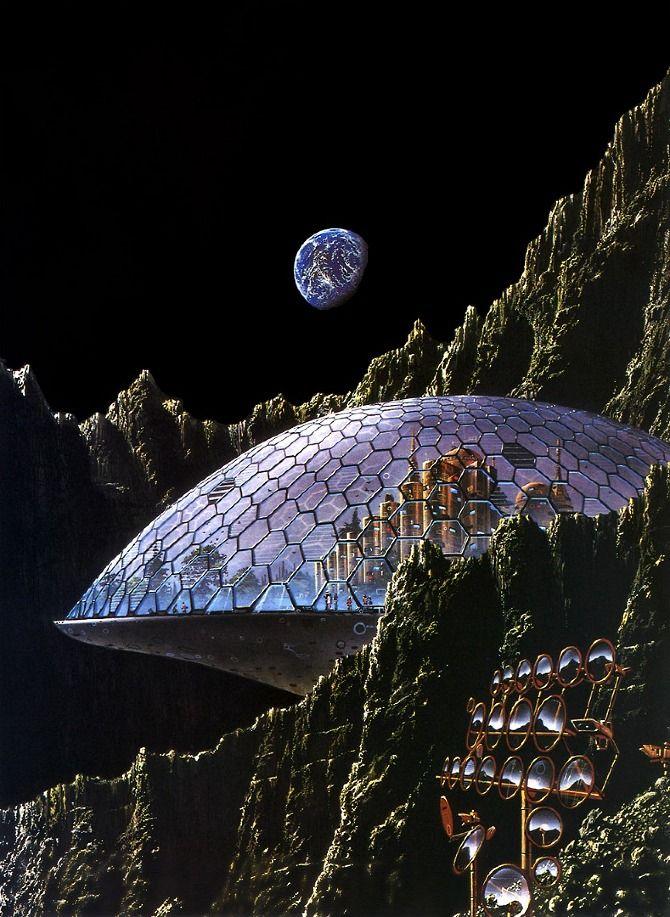 Tim White - MELT / moon base / geodesic dome