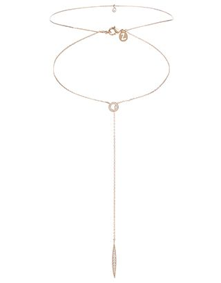 Rose Gold Xante Lariat Choker Necklace