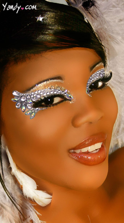 Black dress eye makeup stickers