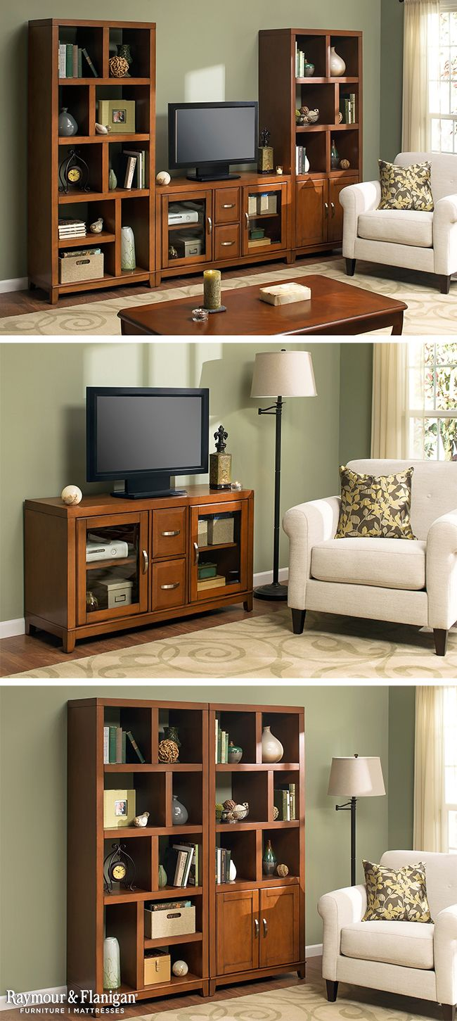 TV Stand Idea. See More. Talk About Options! This New Granthom Entertainment  Collection Has So Many Choices. You Can