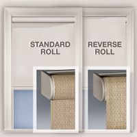Standard Regular Vs Reverse Roll Roller Shades Panel