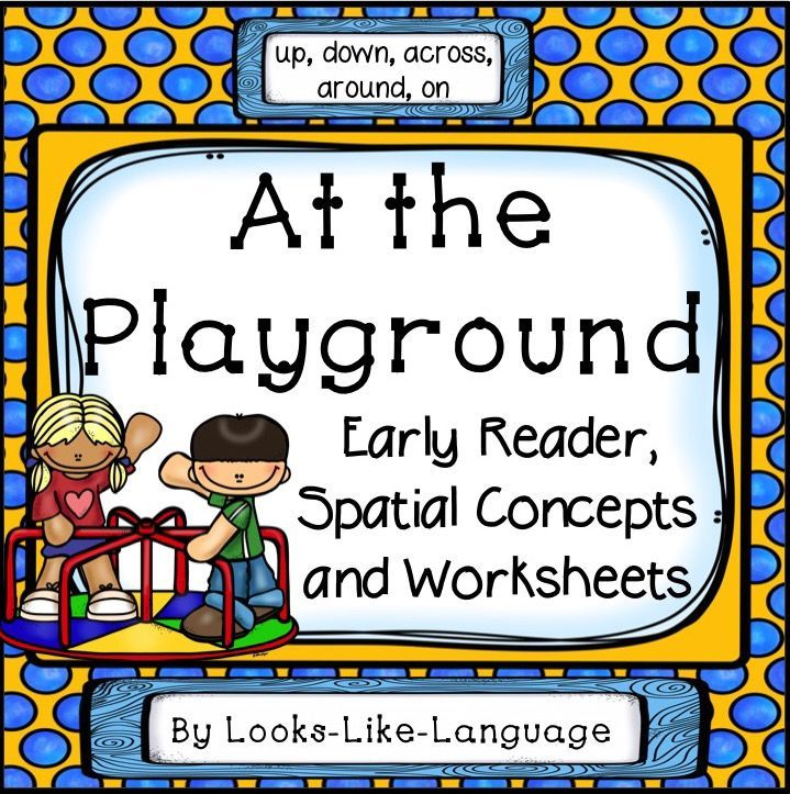 Adapted Book At The Playground Spatial Concepts Words