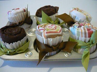 Cupcakes van babykleertjes