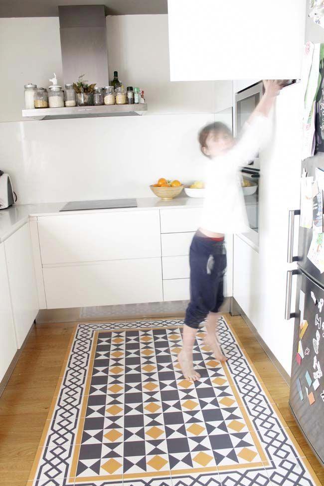 Ideas Para Cambiar La Cocina Sin Obras Alfombra Vinilo Hidraulico
