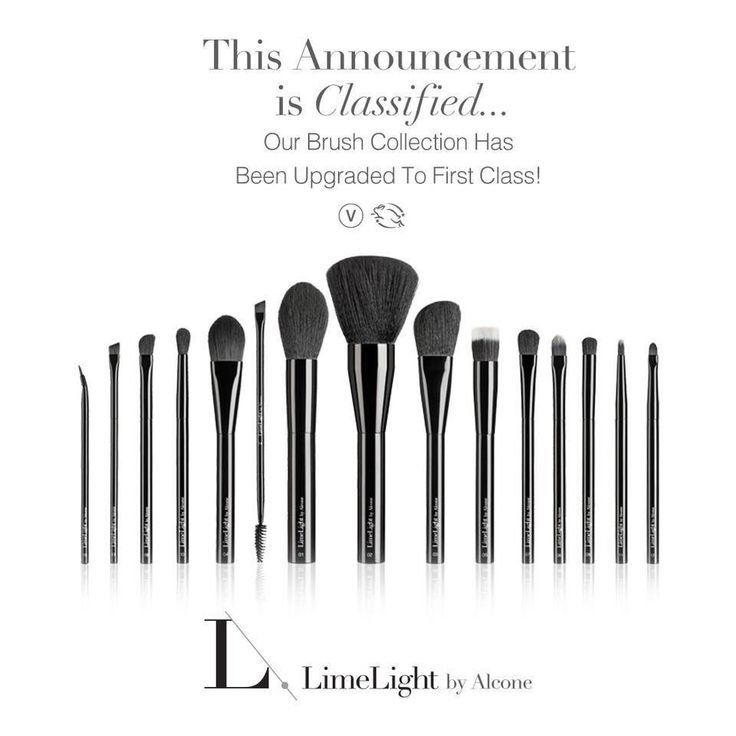 New Black Handled Vegan Brushes with a Leather high quality black brush holder. These brushes have been made of finer hairs to work best with Limelight By Alcones' 50% more pigment makeup and is much softer on the face. High quality professional brushes available now. Just in time for the holiday gift giving season! #limelightbyalcone #highqualitybrushes #makeupartistsworldwide #professional #makeup #shopping #shoppingonline #holidays #gift #giftideas