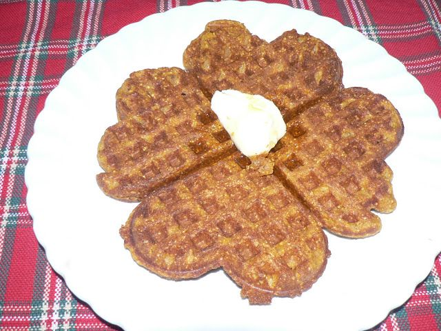 Whole Wheat Pumpkin Waffles - Bless This Mess