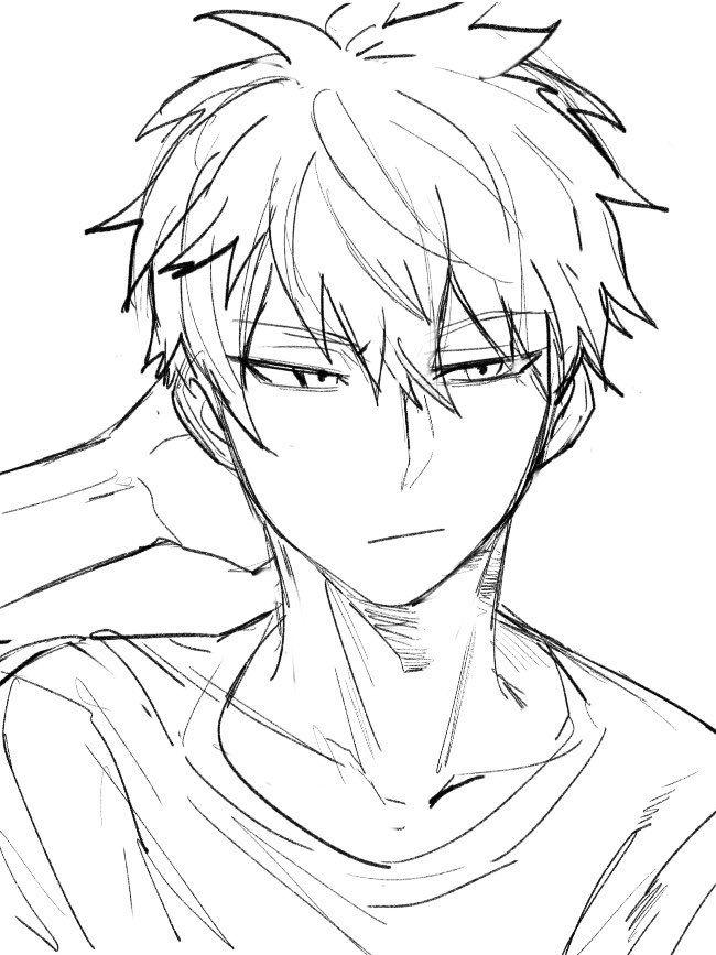 Anime Male Drawing : anime, drawing, Kadeart, Twitter, Anime, Drawing,, Character, Drawings, Tutorials