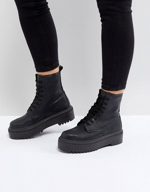 f996780bad01 ASOS DESIGN ATTITUDE Chunky Lace Up Boots ( 48)