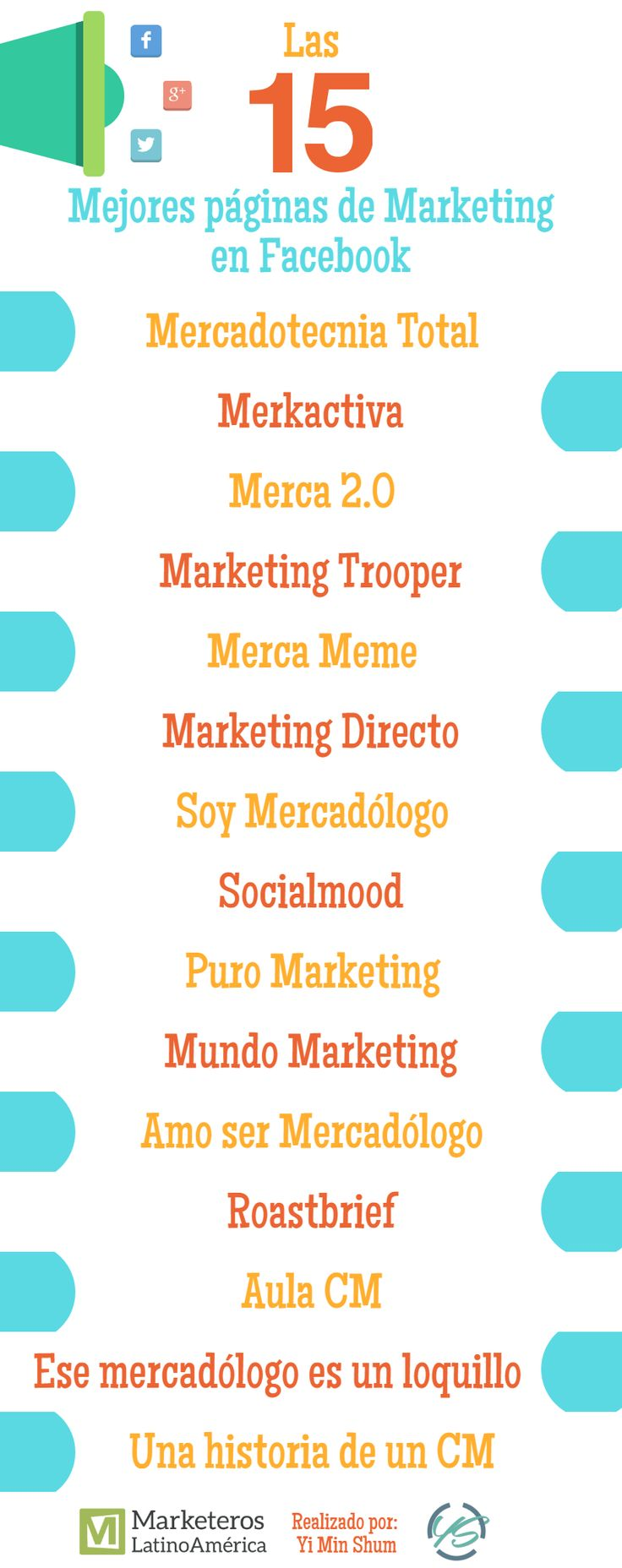 Las 15 mejores páginas de Marketing en Facebook #marketing