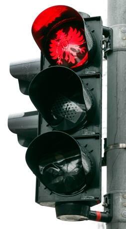 Traffic light has become fan of the Eintracht Frankfurt football club