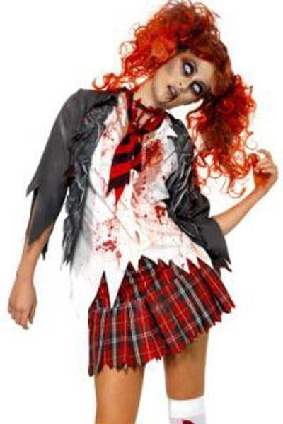 Sexy Naughty Adult Zombie School Girl Halloween Cosplay Costume 8866 Large #NA #CompleteCostume