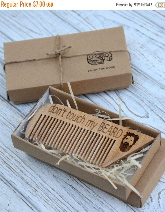 ON SALE Personalized wooden comb. Engraved comb. For men, for him. Don't touch my beard Beard comb, moustache comb, hair comb Idea for gift