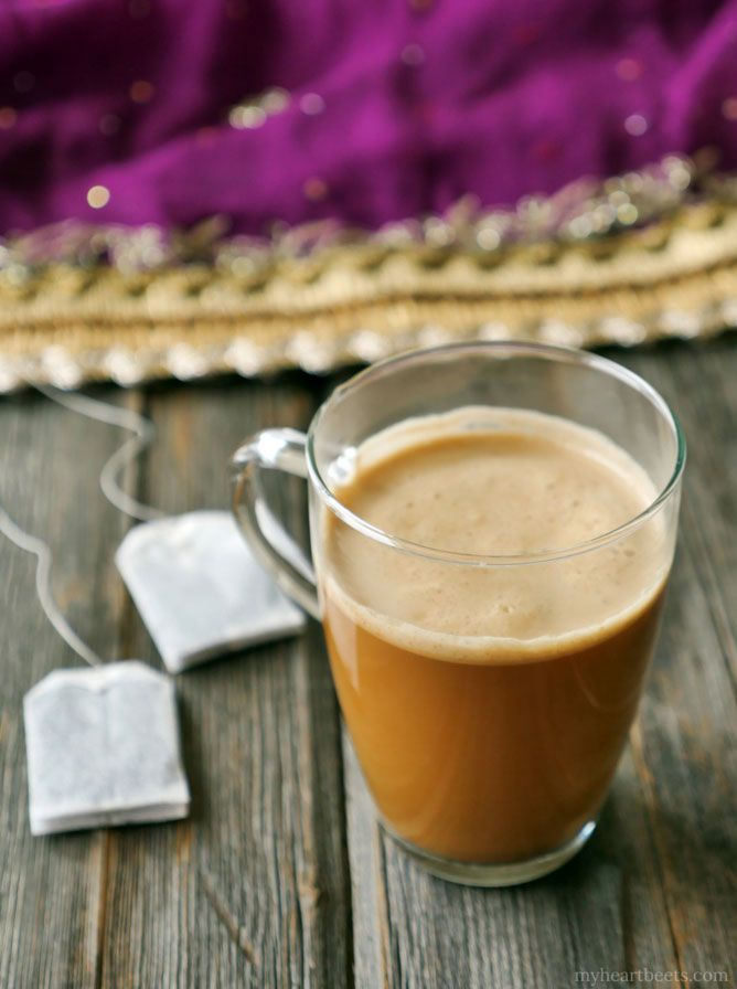 Indian Masala Buttered Chai by Ashley of MyHeartBeets.com