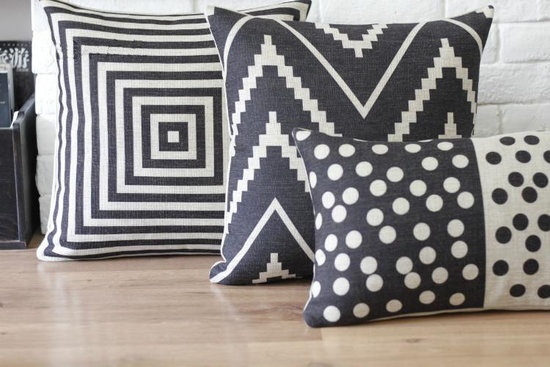 These black-and-white linen pillowcases keep a modern and bold look –– I Can't Believe It's From Etsy: The Eco Edition