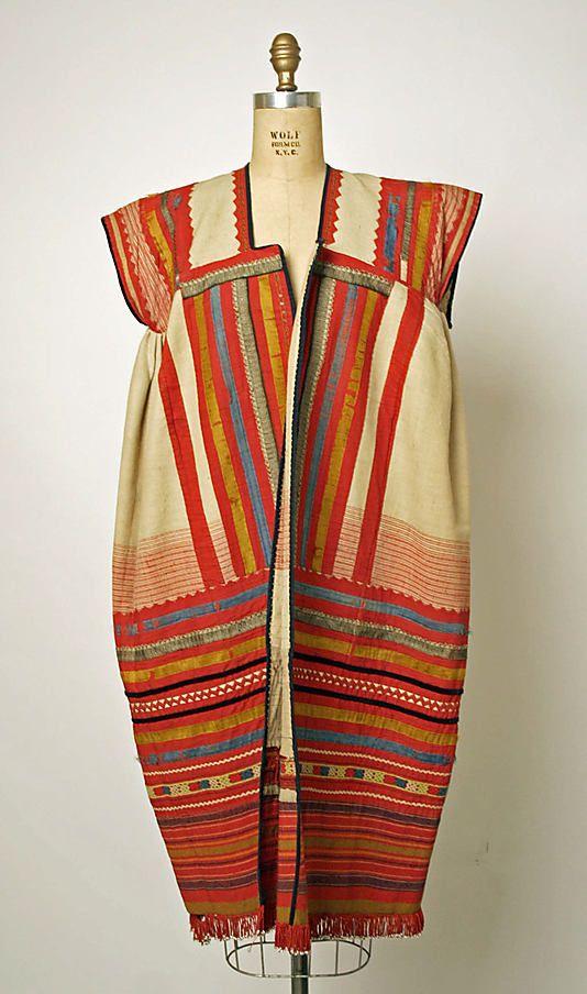 Ensemble  Date:     1800–1939 Culture:     Russian Medium:     linen, cotton, leather