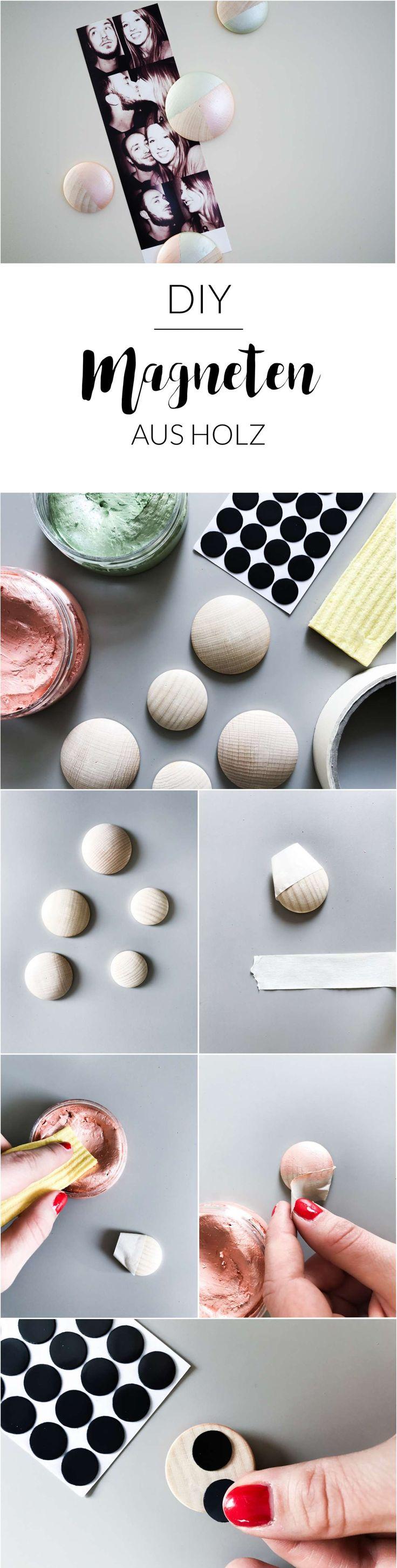 Easy peasy Holzmagneten mit geometrischen Muster in Metallic-Pastellfarben ganz einfach selber machen! Schau vorbei! | Kühlschrankmagneten selber machen | Magneten selber machen | DIY Idee Magneten aus Holz | Metallic | Geschenkidee selbstgemacht | DIY Deko | geometrisches Muster | Pastellfarben | paulsvera