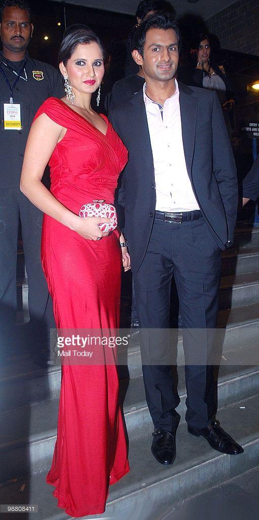 Sania Mirza with husband Shoaib Malik at the Femina Miss India finals in Mumbai on April 30, 2010.