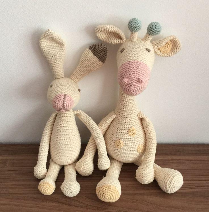 Amigurumi, giraffe, bunny, pastel colors, stuffed toy, toy, huggeble, crochet toy, zurafa, tavsan, oyuncak, dantel, tig isi.
