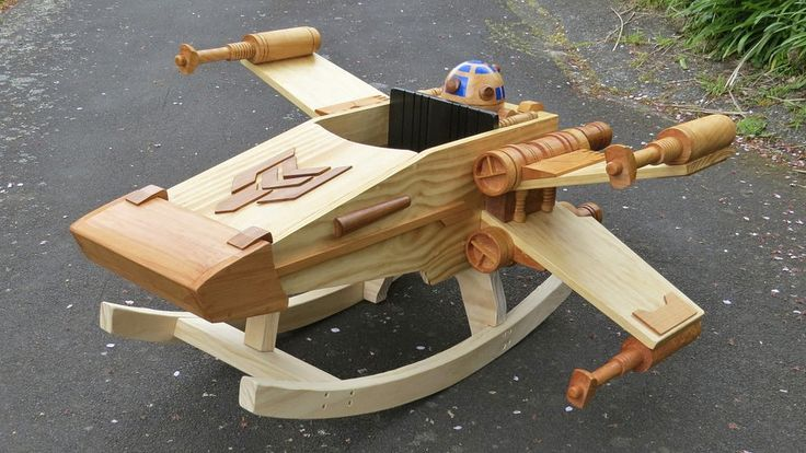 Wooden rocking X-wing fighter by Steves Wooden Toys on DeviantArt...this is how you win at parenting