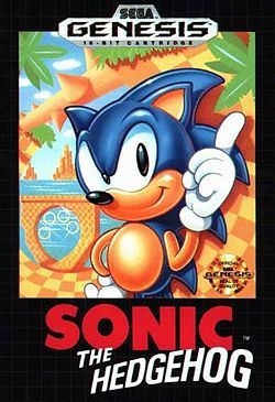 "Sonic the Hedgehog. Back when Sega Genesis was ""the real deal"". I totally owned this game. I could play it with my eyes closed. I long to play this again ..."