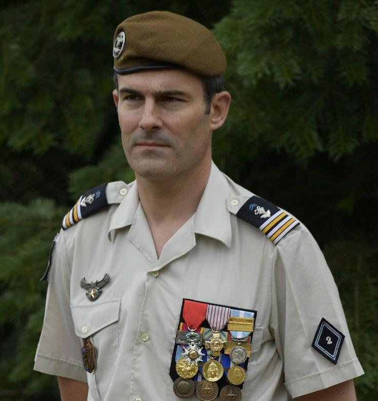 85e Le Lieutenant-colonel Hubert Brumel-Jouan, photo passation de commandement