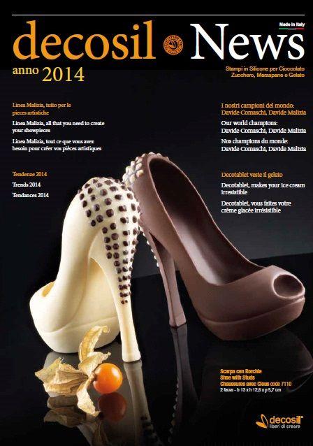 decosil News 2014 - Chocolate Fashion - la raccolta delle nuove proposte per il 2014 degli stampi professionali 3D in silicone alimentare per cioccolato, zucchero e gelato.