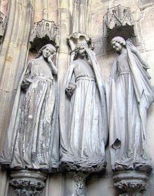 Drei der fünf törichten Jungfrauen Magdeburger Dom https://de.wikipedia.org/wiki/Die_klugen_und_t%C3%B6richten_Jungfrauen_(Magdeburger_Dom)
