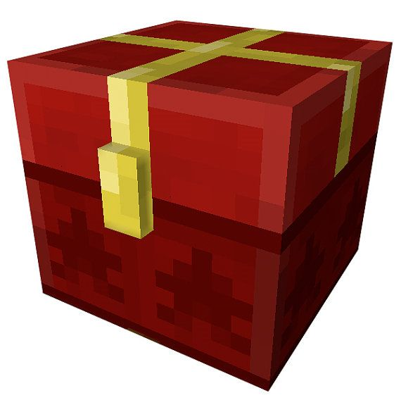 Minecraft Gift Box Chest Decal by WilsonGraphics on Etsy, $3.00 ...