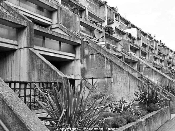 Alexandra Road housing estate iconic new brutalist architecture in London, England, UK
