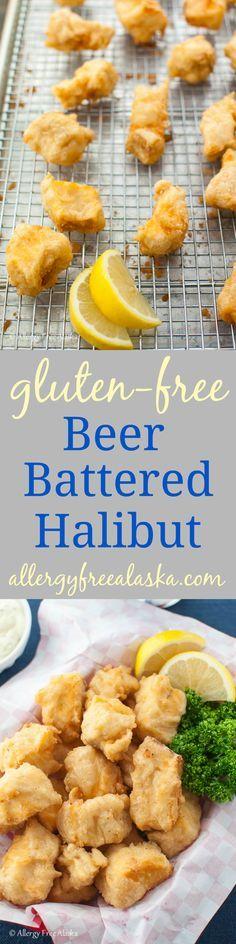Gluten-Free Beer Battered Halibut Recipe from Allergy Free Alaska                                                                                                                                                                                 More
