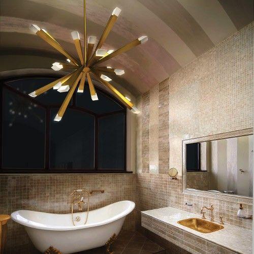 chandelier bathroom lighting. chandeliers in unexpected places modern bathroom lightinglight chandelier lighting