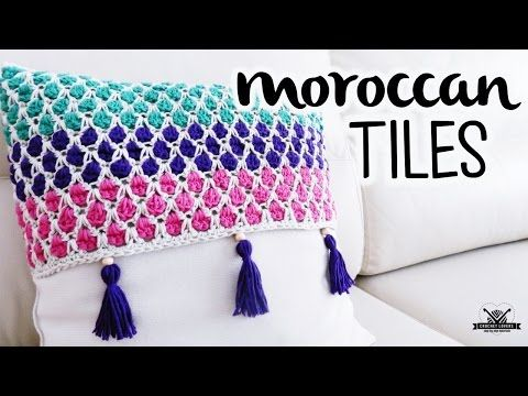 How to crochet the MOROCCAN TILES stitch ♥ CROCHET LOVERS - YouTube
