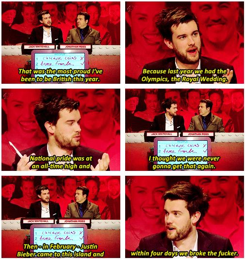 When he reminded us why we should all be very proud to be British. | 19 Times Jack Whitehall Totally Out-Bantered Everyone
