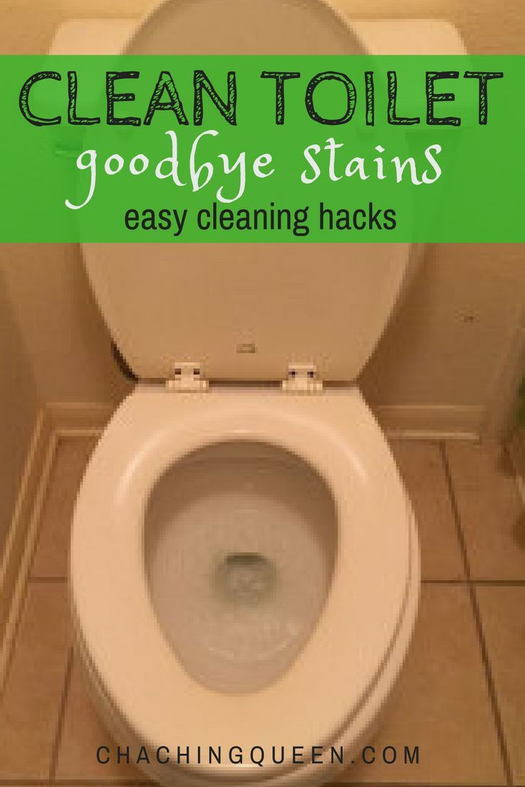 How To Clean A Toilet And How To Remove Hard Water Stains Toilet Cleaning Easy Cleaning Easy Cleaning Hacks