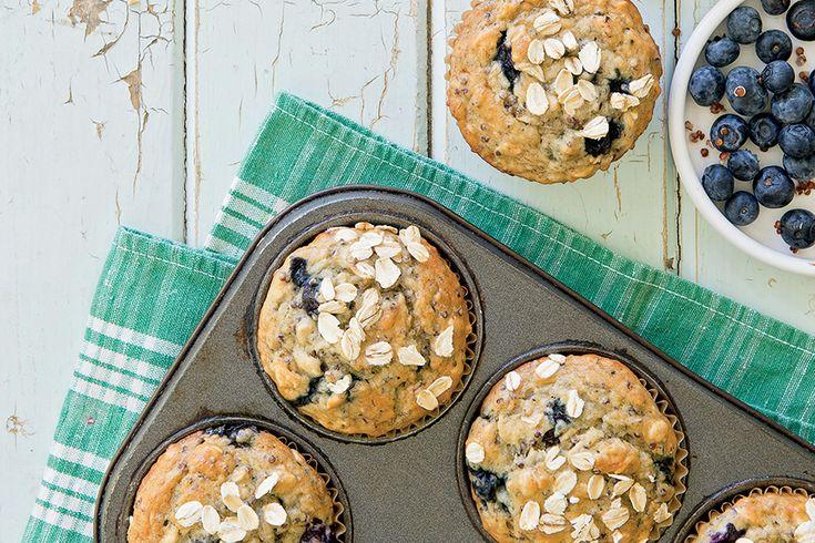 Muffins à l'avoine et aux bleuets