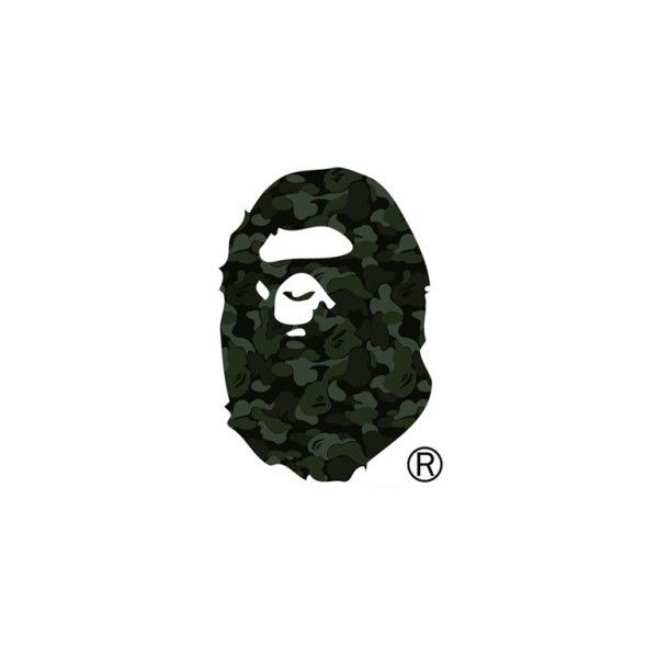 bape logo on tumblr liked on polyvore logo pinterest
