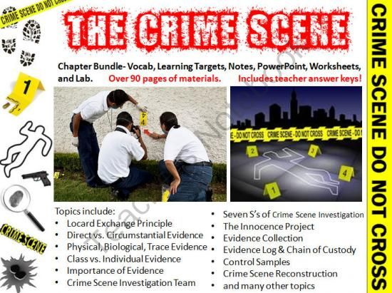 Forensic science classroom decor