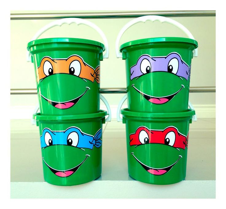 Teenage Mutant Ninja Turtles party buckets - email jackie@babazoo.co.za