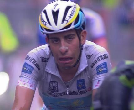 FOTO La faccia di Fabio Aru all'arrivo di ieri a Vicenza